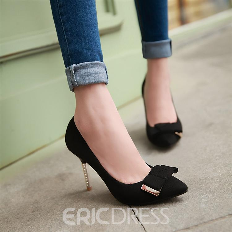 Pretty Bowknot Pointed-toe Women's Pumps