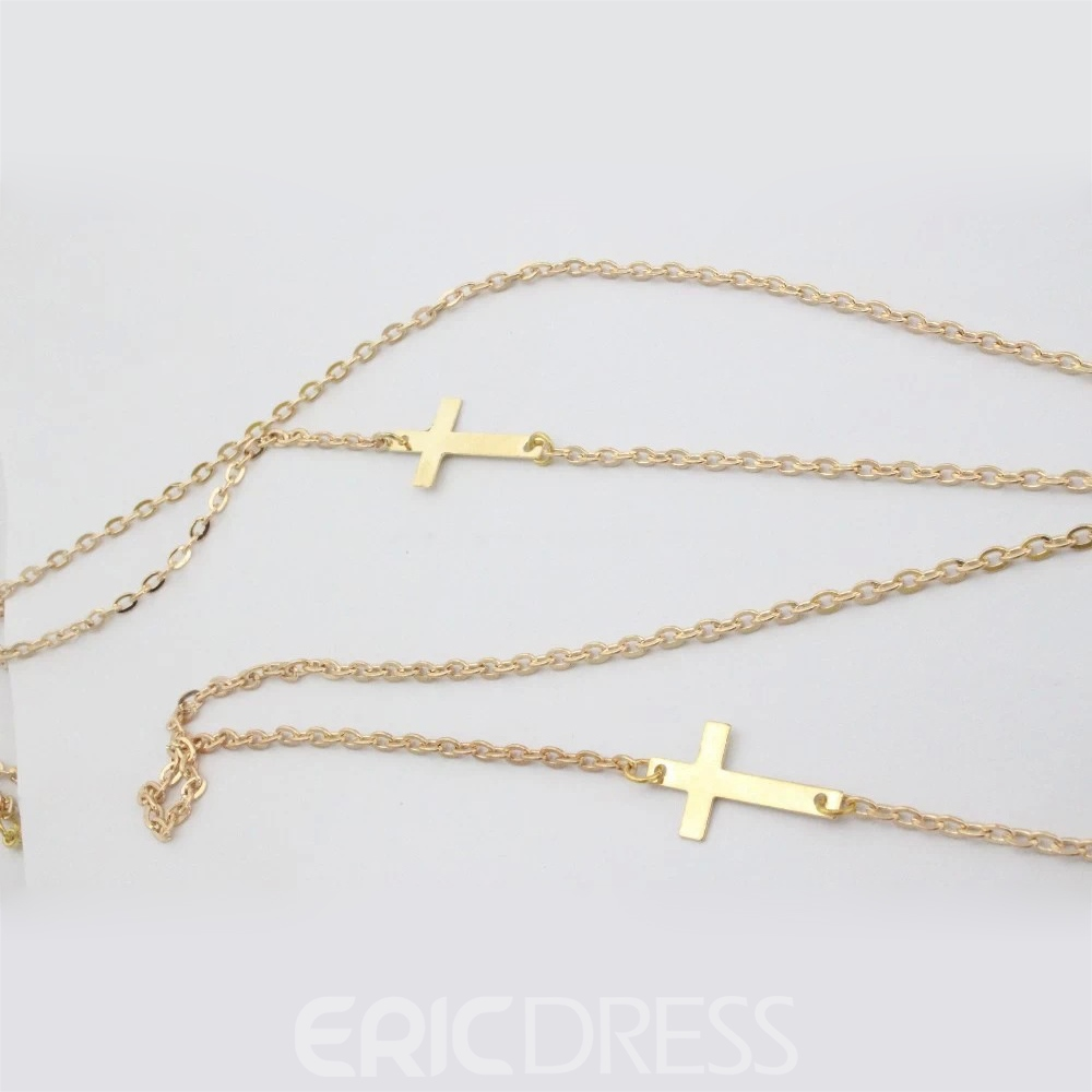 Ericdress Cross Pearl Inlaid Style Necklaces