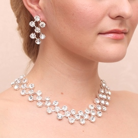 Ericdress Charming Rhinestone Alloy Wedding Jewelry Set (Including Necklace and Earrings)