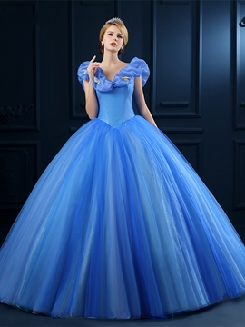 Ericdress appliques off-the-shoulder ballkleid quinceanera kleid