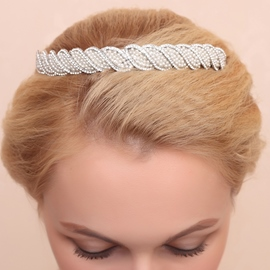 Ericdress Fancy Rhinestone Diamante Alloy Wedding Tiara