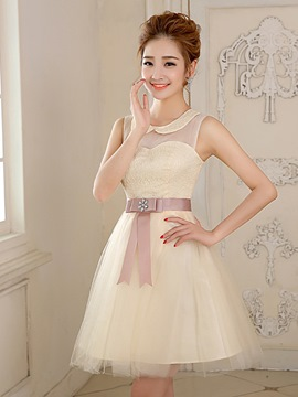 Ericdress a-Linie Peter Bowknot Pan Kragen Heimkehr/Sweet 16 Dress