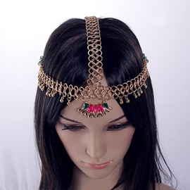 Ericdress Bohemian Hollow Gem Decorated Headband for Women