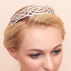 Ericdress Charming Diamante Rhinestone Alloy Wedding Tiara