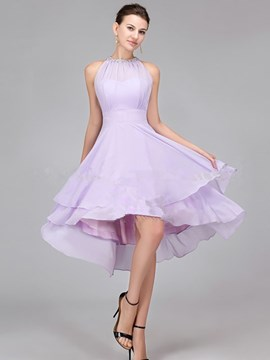 Ericdress Charming Halter Asymmetry Bridesmaid Dress