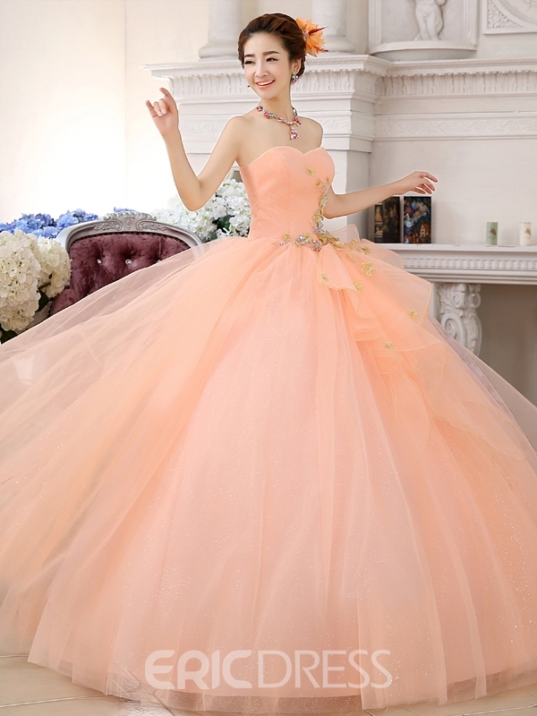 Ericdress Ball Gown Appliques Quinceanera Dress 2019