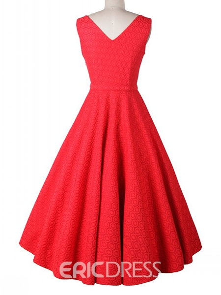 Ericdress Bowknot Sleeveless Plain Casual Dress