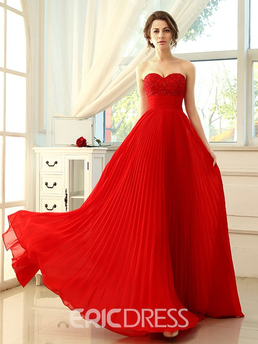 Ericdress Bright A-Line Sweetheart Floor-Length Prom Dress