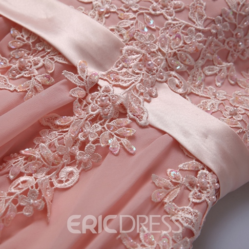 Ericdress Alluring Jewel Neck Appliques A-Line Prom Dress