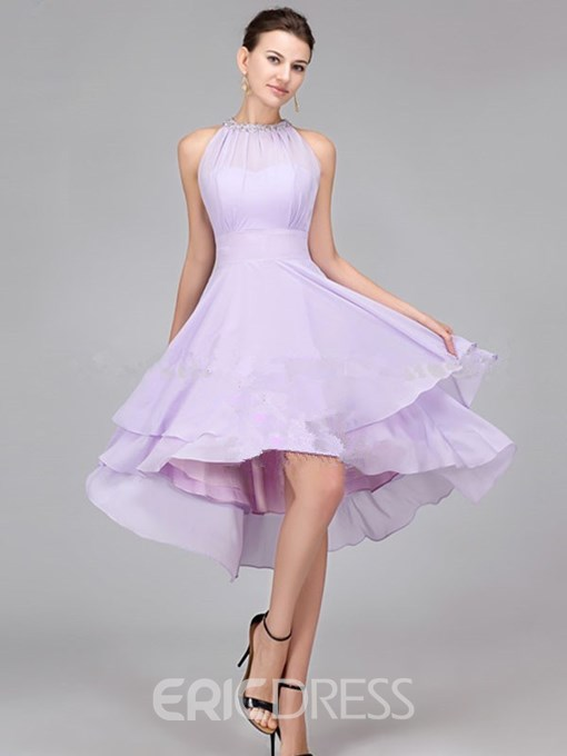 Ericdress Charming Beading Asymmetry Bridesmaid Dress