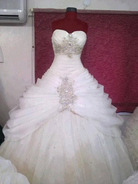 Ericdress Charming Beaded Sweetheart Ball Gown Wedding Dress