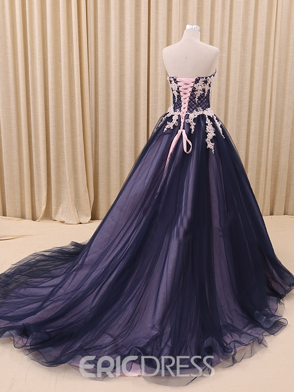 Ericdress Courtlike Sweetheart Appliques Ball Gown Long Quinceanera Dress