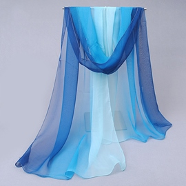 Gradient Color Chiffon Women's Scarf