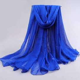 Pure Color Chiffon Women's Scarf