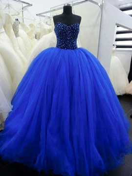 Ericdress Sweetheart Floor-Length Sequins Ball Gown Quinceanera Dress