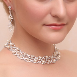 Ericdress Pretty Pearls Rhinestone Wedding Jewelry Set