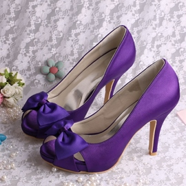Ericdress Beautiful Satin Bowknot High Heel Prom Shoes