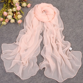 Fashion Solid Color Chiffon Scarf