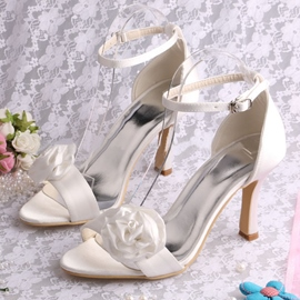 Ericdress Pretty Flower High Heel Sandals Wedding Shoes