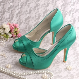 Ericdress Simple Peep Toe High Heel Wedding Shoes