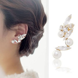 Ericdress Delicate Pearl & Rhinestone Earrings