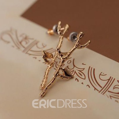 Ericdress Chic Bird on Branch Earrings