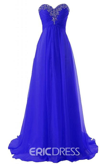Ericdress Sweetheart Beading Floor-Length Prom Dress
