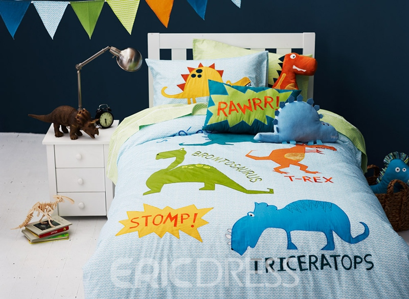 Vivilinen Dinosaur World 3-Piece Cotton Kids Duvet Cover Sets