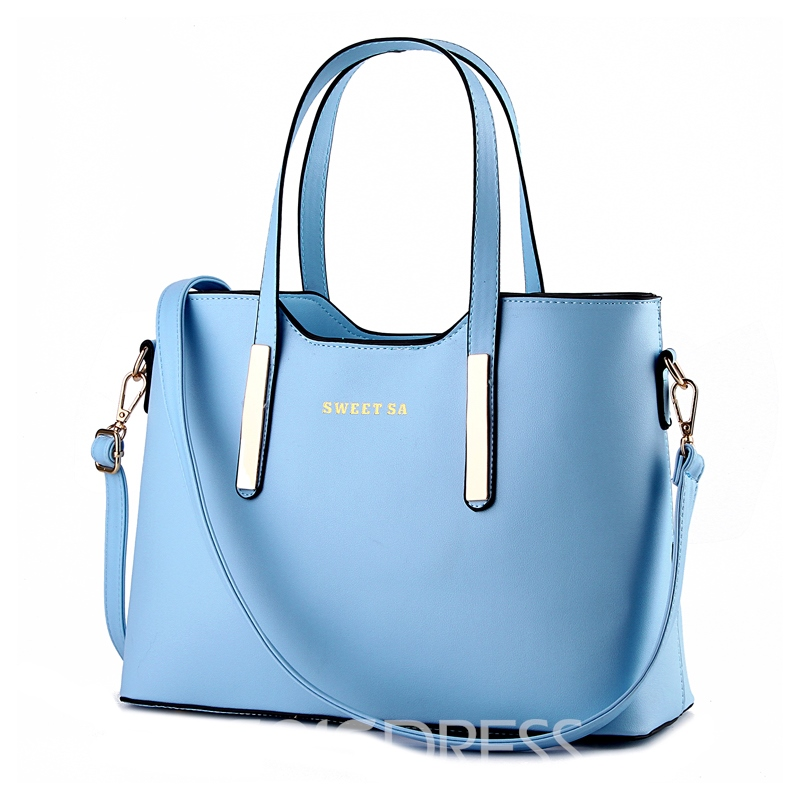 Ericdress Modern Simple Large Capacity PU Handbag