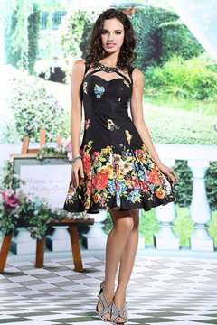 Ericdress Glittering A-Line Print Short Evening Dress