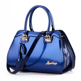 Ericdress Exquisite Patent Leather Solid Color Handbag