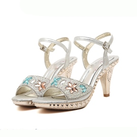 Ladylike Peep-toe Stiletto Sandals