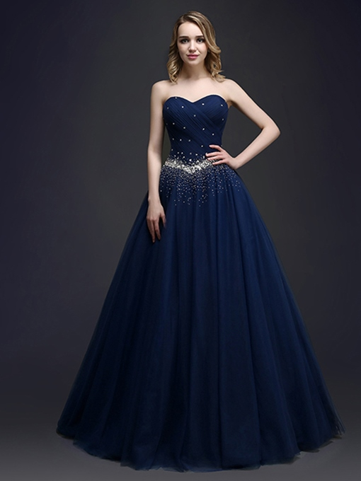 Ericdress Floor-Length Sweetheart Sequins Ball Gown Quinceanera Dress