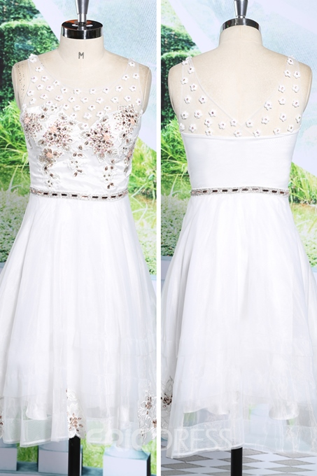 Ericdress Superb A-Line Appliques Sequins Short Homecoming Dress