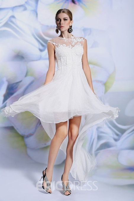 Ericdress Asymetrical Jewel Neck A-Line Homecoming Dress