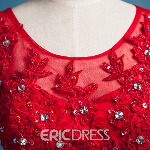 Ericdress Appliques A-Line Short Junior Prom Dress