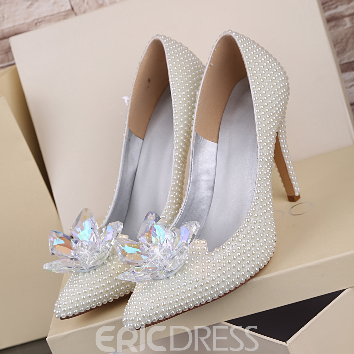 Ericdress White Pearl Wedding Shoes 11574058 - Ericdress.com 66b76ca0c7