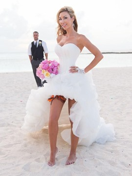 Ericdress Beautiful Sweetheart Asymmetry Beach Wedding Dress