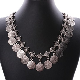 Classic Coins Shaped Necklace