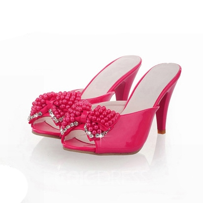 Elegant Peep-toe Stiletto Sandals with Bowknot