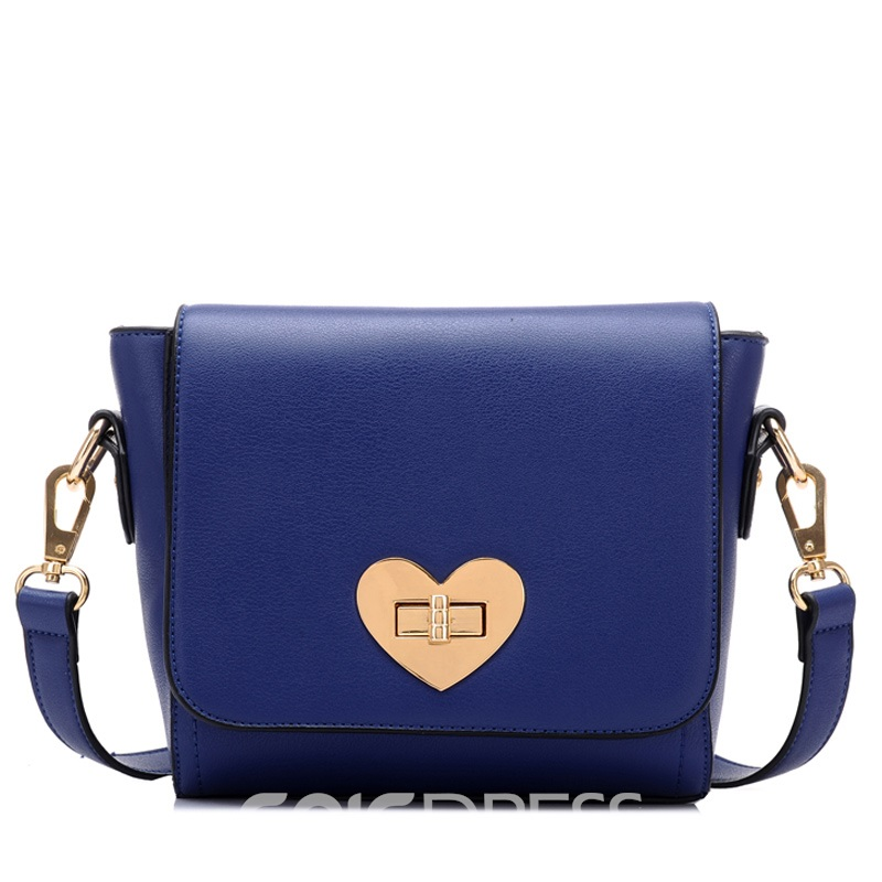 Ericdress Modern Heart-Shaped Lock PU Shoulder Bag