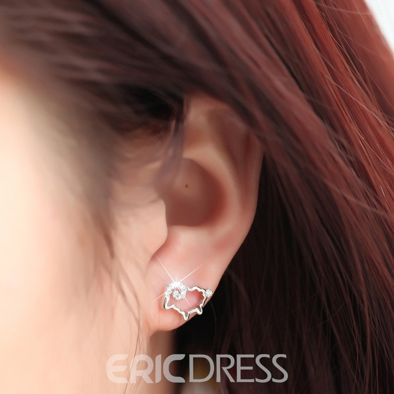 Ericdress High Quality S925 Sterling Silver Stud Earring