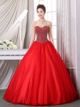 ericdress schatz perlen zipper-up quinceanera kleid