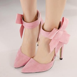 Red/Pink Celebrity Design Prom Shoes With Big Bowknot