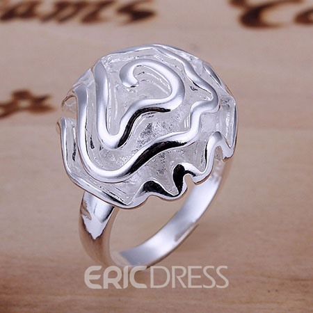 Flower Shaped Womens Ring
