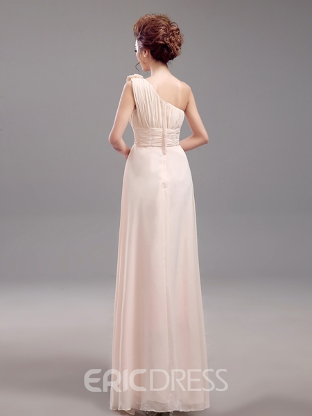 Ericdress Beautiful One Shoulder Long Bridesmaid Dress