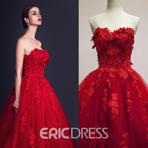 Ericdress Charming Sweetheart Lace A Line Wedding Dress
