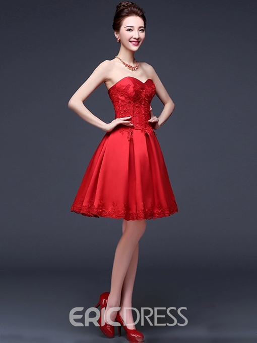 Ericdress Beautiful Appliques Sweetheart Short Bridesmaid Dress