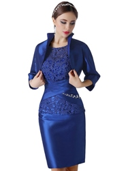 Ericdress Lace Knee Length Mother of the Bride Dress With Jacket