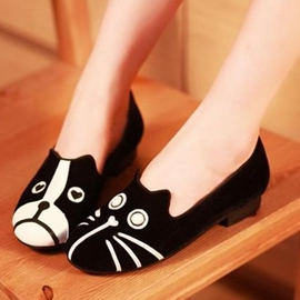 Ericdress Cartoon Cat&Dog Women's Flats